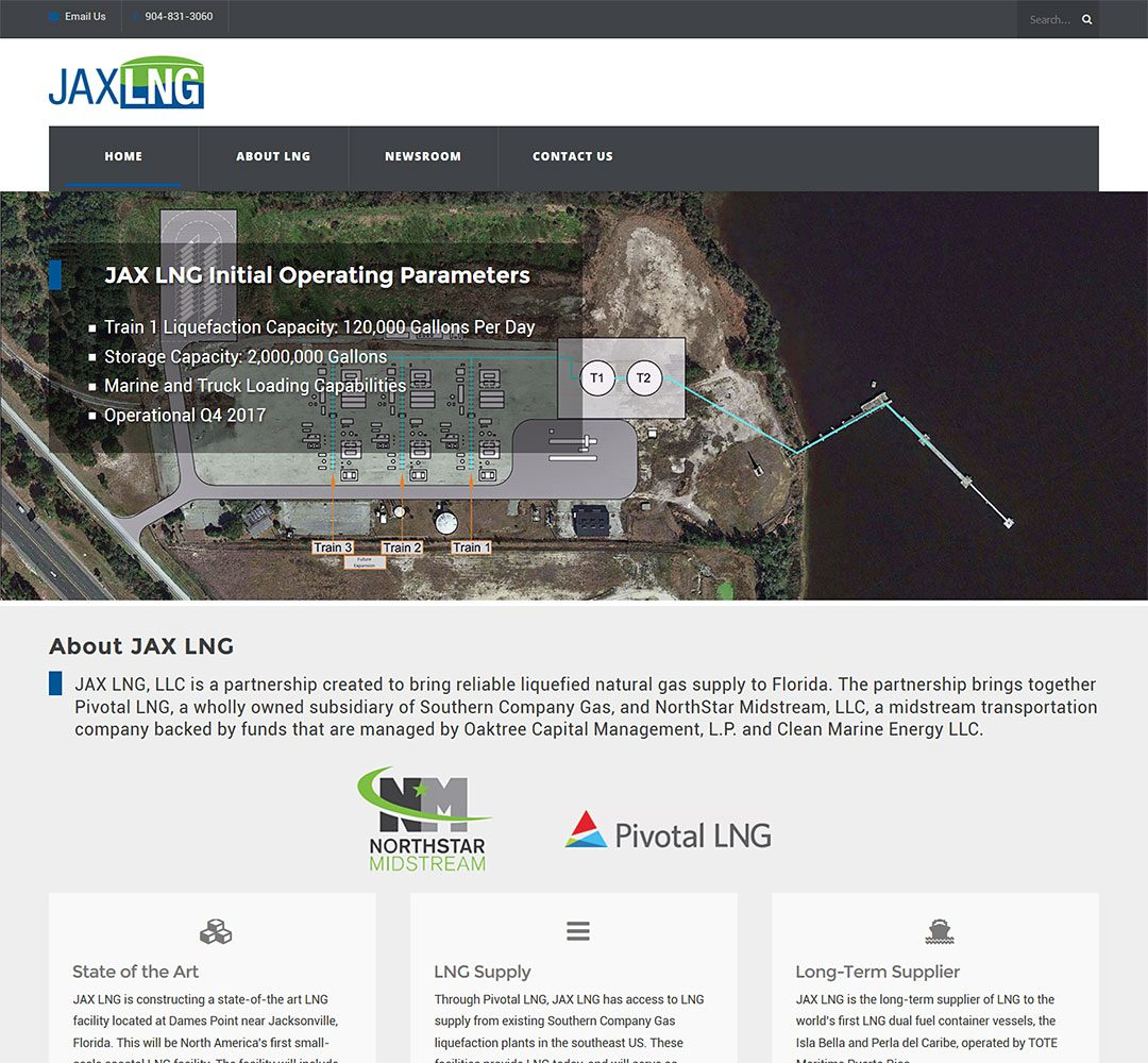 JAX LNG Website