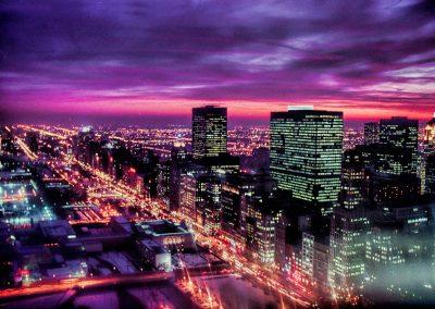 Chicago Michigan Avenue Night