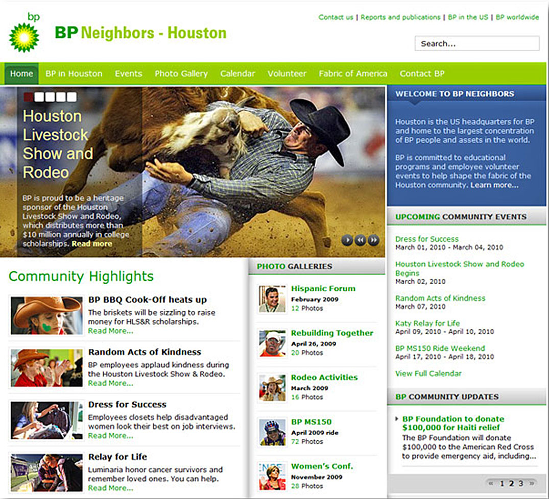BP Neighbors website