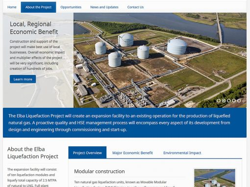 Elba Liquefaction Project