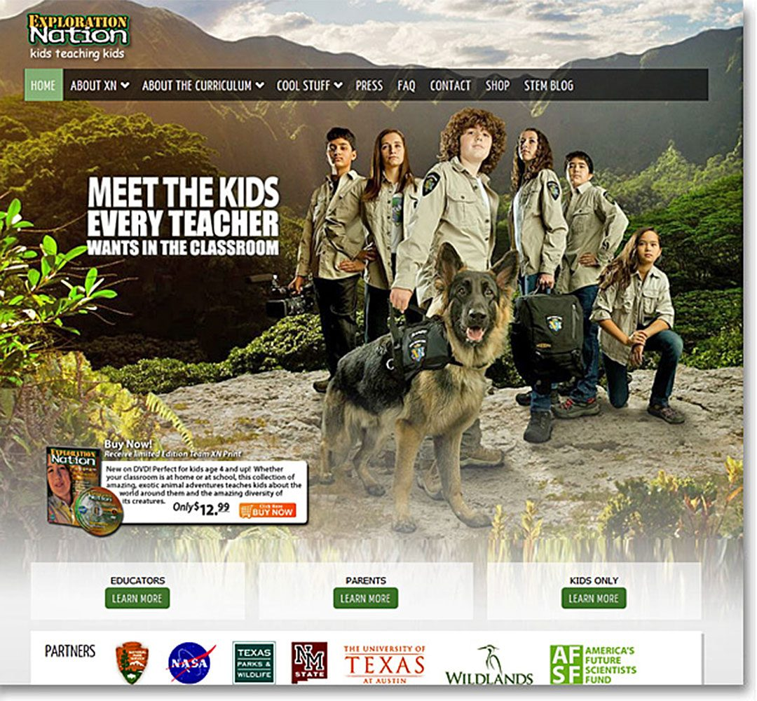 Exploration Nation website