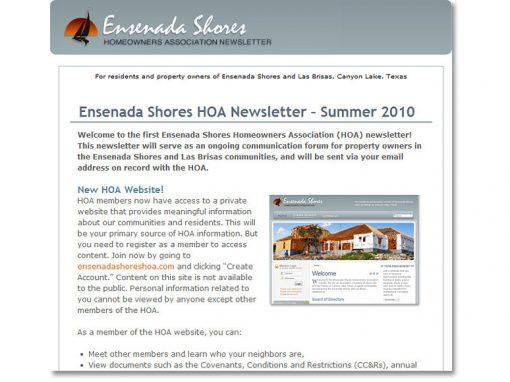 Homeowners Assoc. e-Newsletter