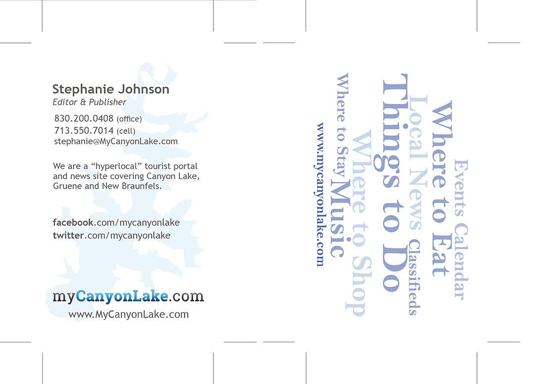 My Canyon Lake business card