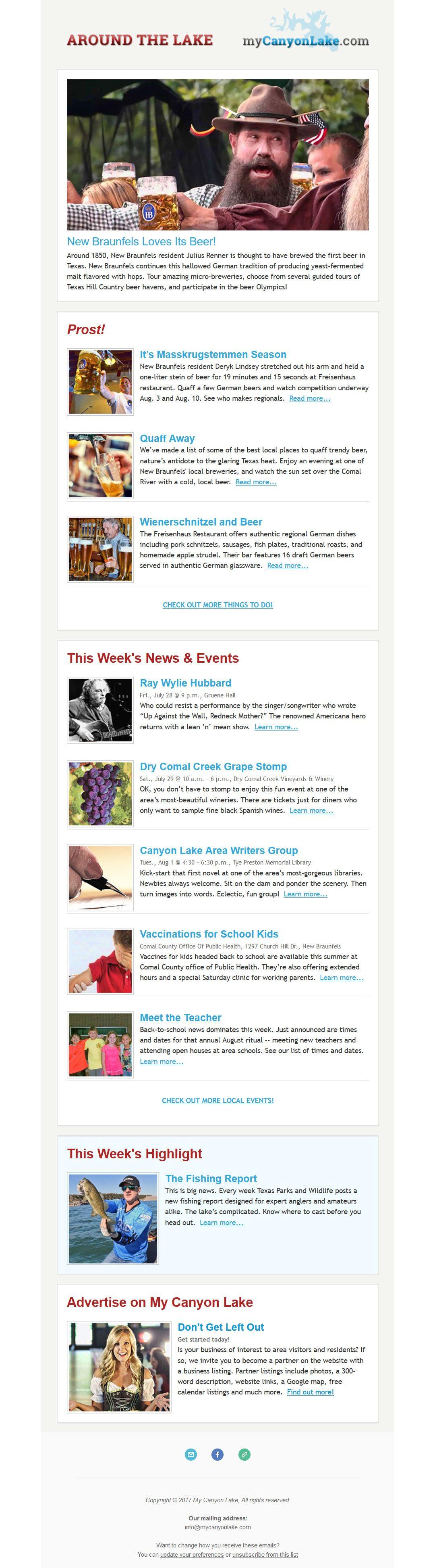 My Canyon Lake Newsletter