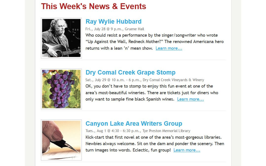 My Canyon Lake Newsletter