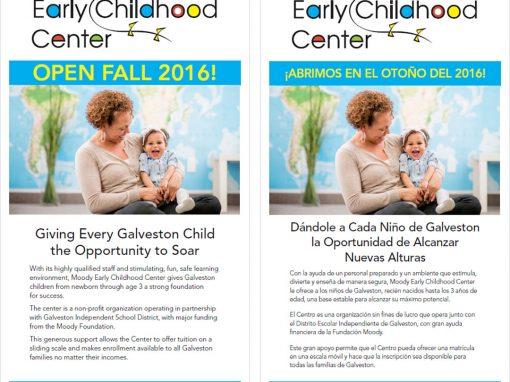 Moody Childhood Center Rack Card