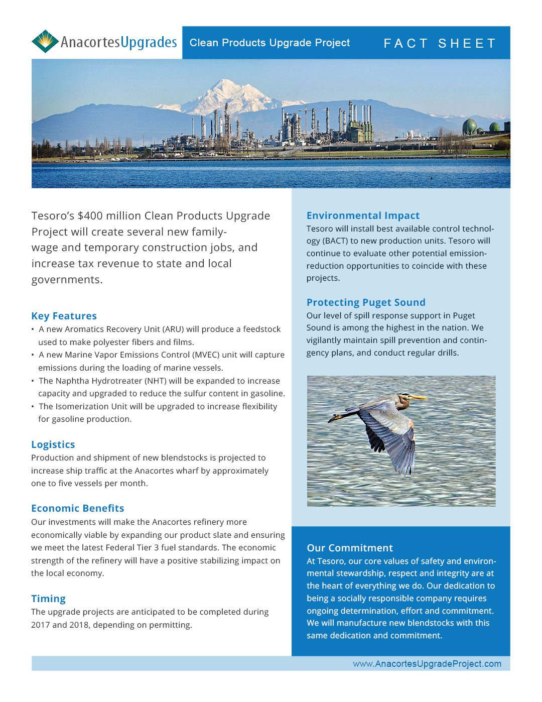 Anacortes project fact sheet