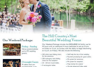 Wedding Package Fact Sheet